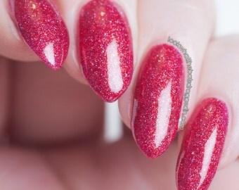 Hysteria | Moonstone Nail Polish | indie nail polish, glitter, handmade, artisan
