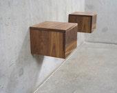 floating nightstand etsy. Black Bedroom Furniture Sets. Home Design Ideas