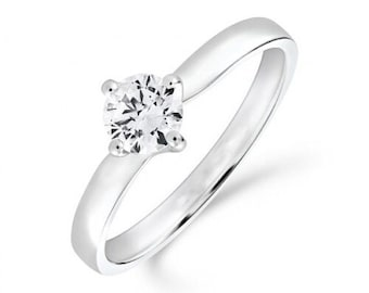 0.40ct Diamond Solitaire Engagement Ring