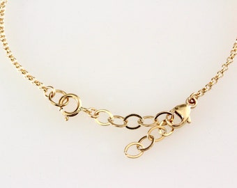 Removable extender, bracelet or necklace extender, 14K Gold filled, sterling silver or rose gold