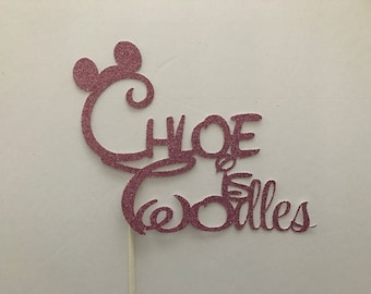 oh TWOdles cake topper/Mickey Mouse cake topper, Birthday Party, Photo Shoot, Oh Toodles Personalized Pink and red boy girl