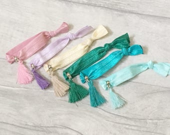 Hair Tie Bracelet, Tassel Bracelet, Girls Bracelet, Party Bag Filler, Loot Bags, Party Favors, Girls Party Favor, Party
