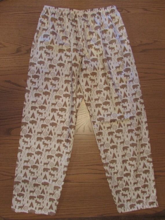 Family pajamas /mens pajamas/cotton pajamas/boys pajamas / lightweight /2 colors/ cream and red / riley blake fabric/ sizes 6 mon to xxl men