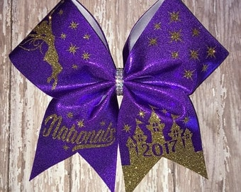 Nationals cheer bow, fairy bow, pixie dust bow, castle bow, special event bow