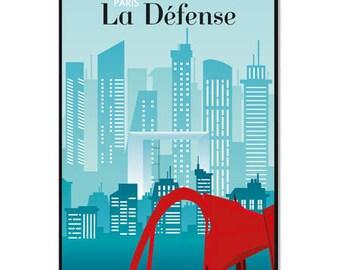 Paris 'La Défense' poster - to download