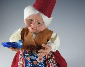 "Gnome/Female Elf/Handmade Fairy/""Holly"""