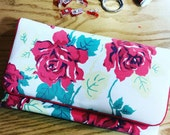 Clutch Purse, with Vintage Fabric, Magnetic Snap, Spring Purse, Vintage Clutch, Small Bag, Bridesmaid Clutch *special order ANNJN