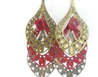Colorful Filigree Earrings