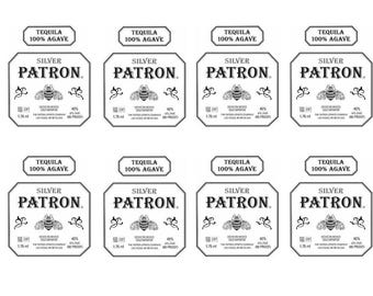 Silver Bee Edible Image Bottle Labels