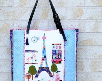 Bag/Tote Pattern/ Paris Bag /Handbag Pattern /A Stitch in Paris