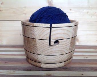 Wood Yarn Bowl handcrafted from Oak- 17YBOA007