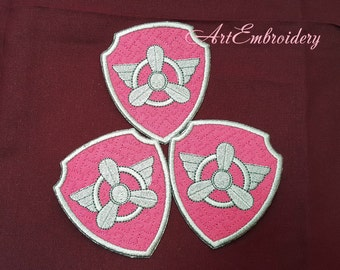 Set of 10 Puppy Badges  - Applique Patches Embroidery Designs  for Baby and Childreh.