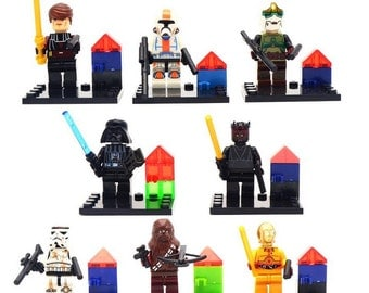 Lot of 8 figures Lego Star Wars customized