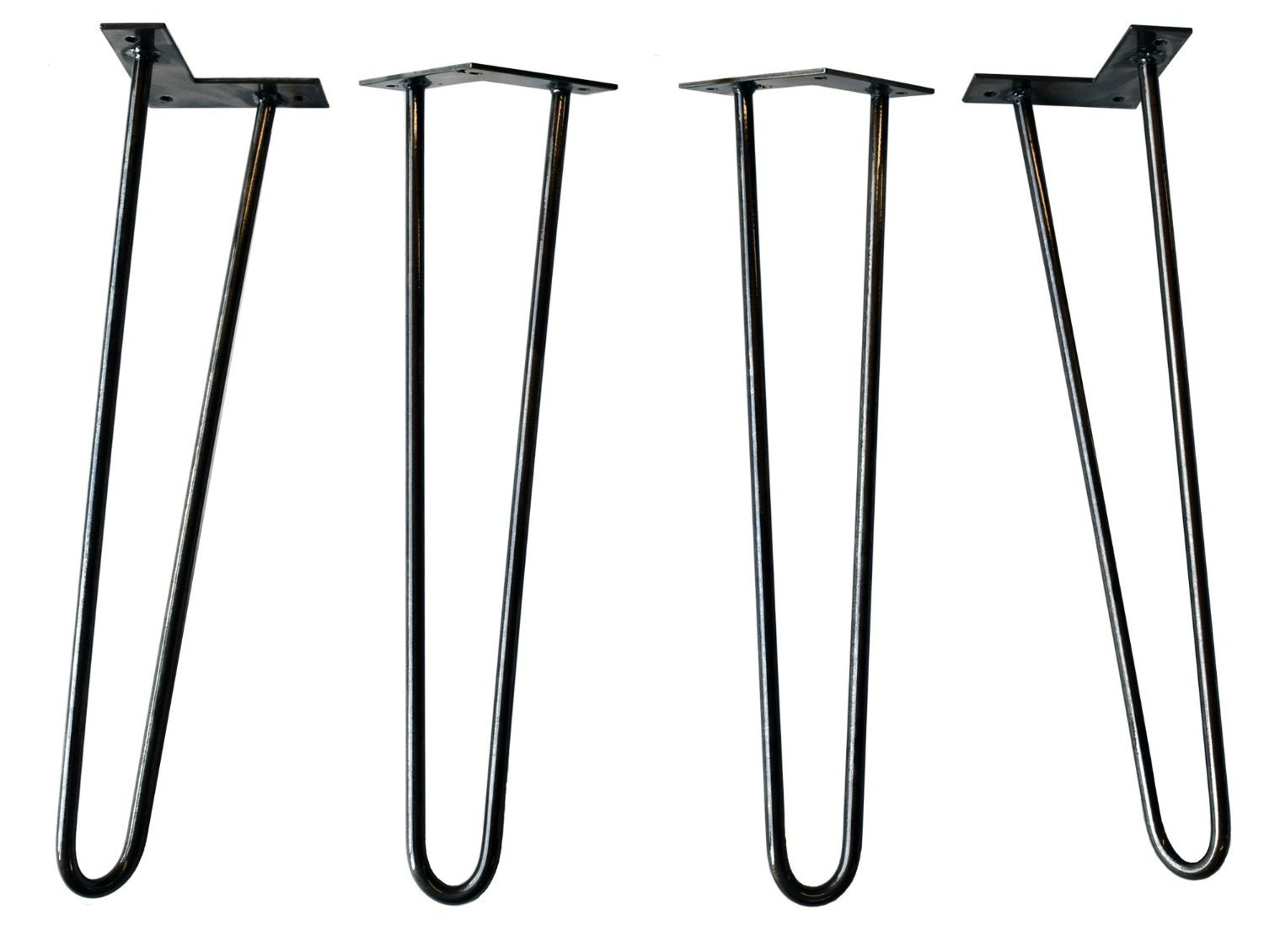 Hairpin legs powder coated metal table legs diy modern legs for Attaching hairpin legs