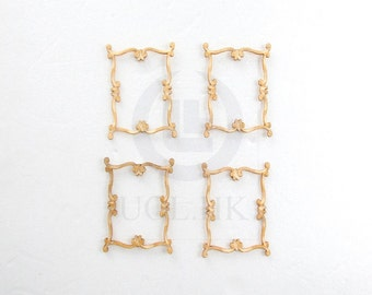 Miniature  Woodworking Decorative Carved Trim -08 For Doll House