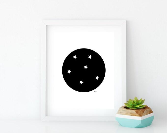 Good Night Art Print (1), Instant Digital Download