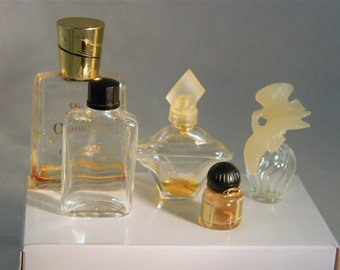5 Other Vintage Glass Perfume Bottles
