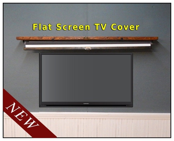 flat screen tv cover large hanging map shelf for pull down. Black Bedroom Furniture Sets. Home Design Ideas
