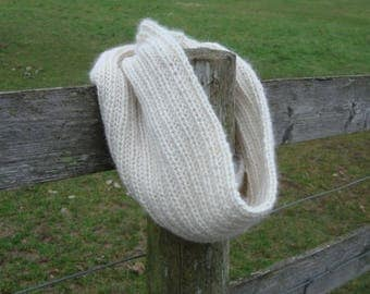 Cream Alpaca Cowl