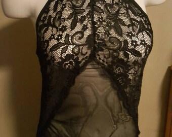 Lace lingerie bodysuit