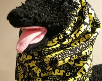 "Star Wars Fabric Snood Dog Snood,  Raw Feeder Ear Cover 16"" to 22"" Neck"