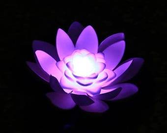 LED Floating Water Lily Lotus Lights Color changing Pool Decoration Centerpieces 1 Piece