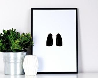 Penguin Pair print