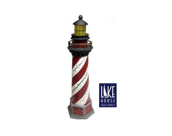Lighthouse Lamp. Battery Operated Lighthouse. SALE