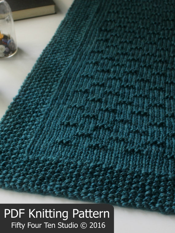 KNITTING PATTERN / Flint Hills Blanket / Throw / Afghan / Knit / Gift / Chris...