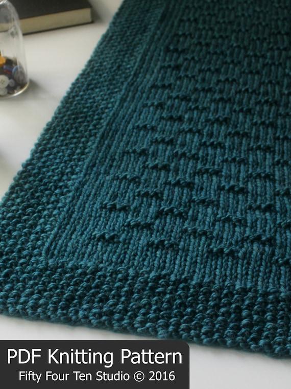Knitting Patterns Christmas Blanket : KNITTING PATTERN / Flint Hills Blanket / Throw / Afghan / Knit / Gift / Chris...