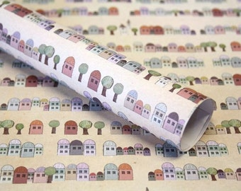3 x gift paper houses 50 x 70