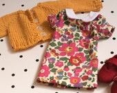 """Liberty Fabric Doll Dress set for 14"""" doll"""