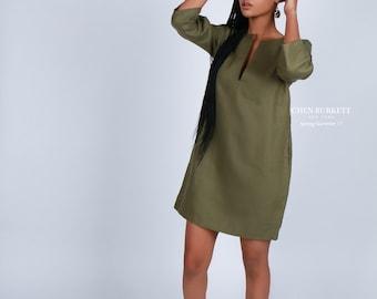 African Print Shift Dress