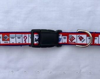 Dog Collar - Large/XLarge - Monopoly Inspired