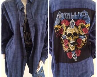 Metallica Unisax  Flannel Shirt
