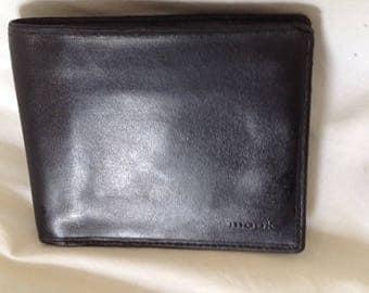 Mook black leather men's wallet mint