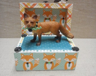 Miniature box - fox and rabbit