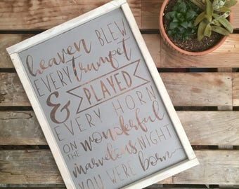 On The Night You Were Born | Nursery | New Baby | New Mom | Framed Wooden Sign