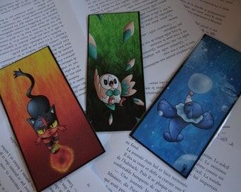 Pokemon Sun / Moon Bookmarks - pack of 3