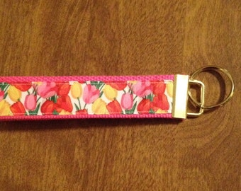 Tulips Flowers Key Chain Zipper Pull