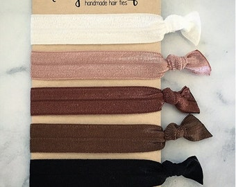 "Elastic Hair Ties - The ""Jane"" Collection"
