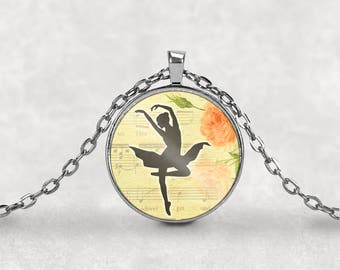 Ballerina Necklace•Ballet Dancer•Ballerina•Ballet•Gift for Ballerina•Ballerina Jewelry•Ballerina Gift•Ballet Necklace•Dance Recital Gift