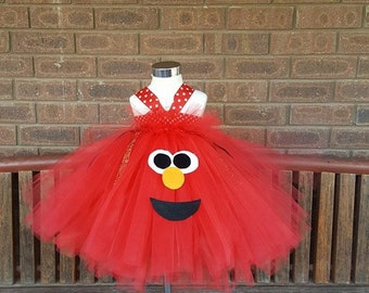 Elmo inspired tutu dress-  birthday outfit , halloween outfit , pageant outfit, birthday
