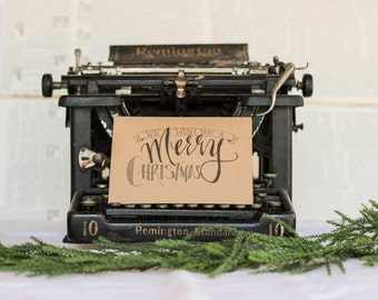 We Wish You a Merry Christmas Card : Black Inkwell