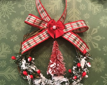 Country Christmas Ornaments Small Christmas Ornaments Handmade Ornaments Country Ornaments Grapevine Ornaments