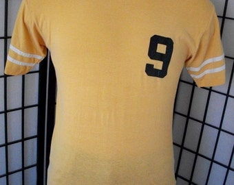 Sport-T by Stedman yellow Dowling Paint #9 local advertising vintage v neck tee shirt xl