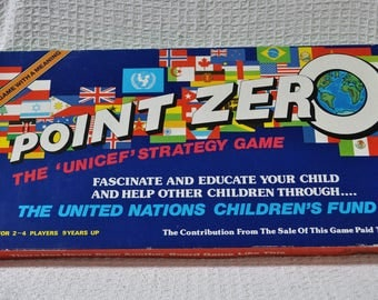 Point Zero A UNICEF Strategy Vintage Board Game Excellent Aged Condition