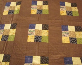 Patchwork Quilt Nine Patch Lap Unused
