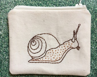 Snail Coin Purse, Embroidery