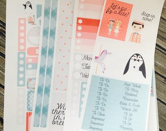 Jolly Holiday Weekly Planner Full Kit Stickers Set, for use with Erin Condren Life Planner, Happy Planner